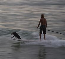 Mans best surf friend by Andrew Carruthers