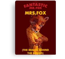 Fantastic Mrs. Fox Canvas Print