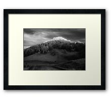 big hill little peak........daniland Framed Print