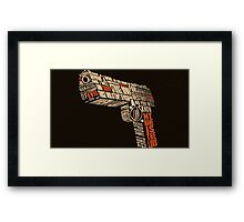 Pulp Fiction - Gun art Framed Print