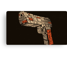 Pulp Fiction - Gun art Canvas Print