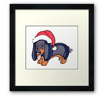 Puppy Claus Framed Print