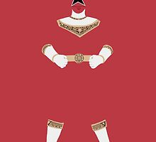 Power Rangers Zeo Red Ranger iPhone Case by simplepete
