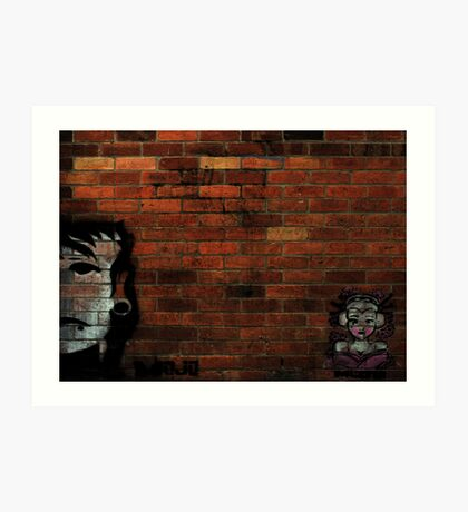 Faces on a Wall Art Print