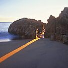 beam of light by Tony Middleton