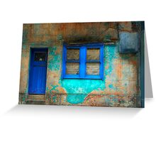 Derelict in Blue - Darlinghurst, Sydney, Australia Greeting Card