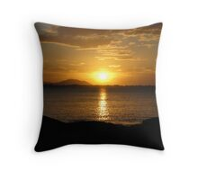 Sunset, Gray's Bay Bowen. Throw Pillow