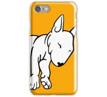Tired English Bull Terrier Puppy iPhone Case/Skin
