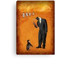 The man who went to the south pole and never came back Canvas Print