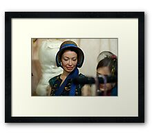 Dickens Fair Corset and Cap Lady Framed Print