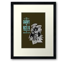 Cowboys vs. Mexicans Framed Print