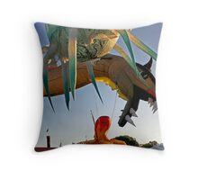 Byron Bay Blues Dragon Throw Pillow