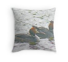 A Pair Of Grebes Throw Pillow