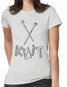 knit!!! Womens Fitted T-Shirt