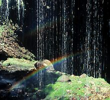 Waterfall Rainbow by Ern Mainka