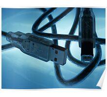 Blue Light USB Poster