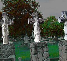 Three Crosses of Golgotha by jaycee
