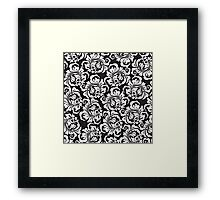 rose pattern Framed Print