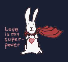 Love Is My Superpower Big Bunny version Kids Tee