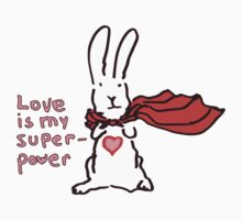 Love Is My Superpower Big Bunny version One Piece - Short Sleeve