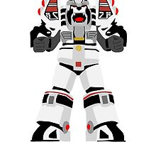 Power Rangers White Tiger iPhone Case by simplepete