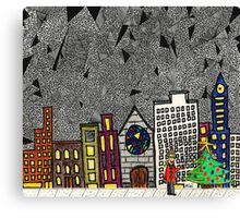 Christmas in the Big City with Yolanda Canvas Print