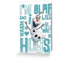 Hi everyone! I'm Olaf Greeting Card