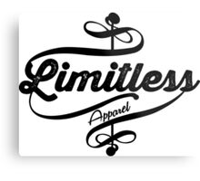 Limitless Apparel - Crossover black Metal Print