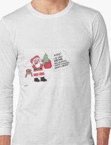 Santa Munching Cookies Long Sleeve T-Shirt