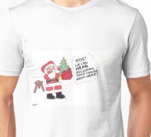 Santa Munching Cookies Unisex T-Shirt