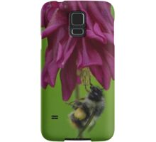 Bumble Bee With Massive Pollen Sacks On A Columbine Samsung Galaxy Case/Skin