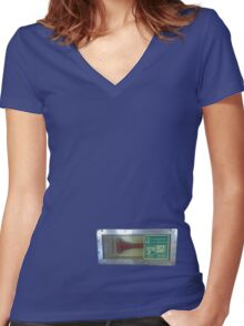 break glass Women's Fitted V-Neck T-Shirt