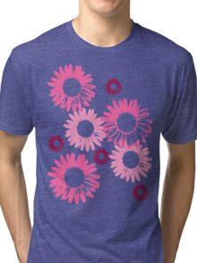 pink daisy Tri-blend T-Shirt