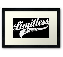 Limitless Apparel - Sport White Framed Print