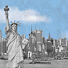 Statue of Liberty New York City New York Skyline by T-ShirtsGifts