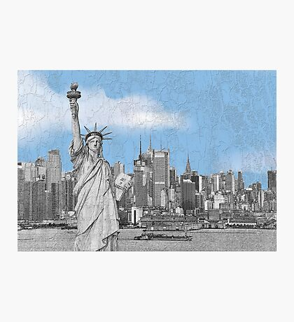 Statue of Liberty New York City New York Skyline Photographic Print