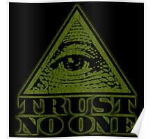 TRUST NO ONE (vintage distressed look) Poster