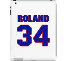 National baseball player Jim Roland jersey 34 iPad Case/Skin