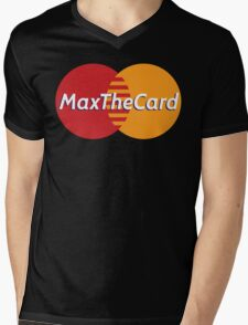 Mastercard Logo Spoof - Max The Card ! Mens V-Neck T-Shirt