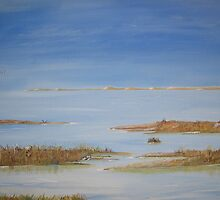 Blakeney Marshes, North Norfolk by Linda Ridpath