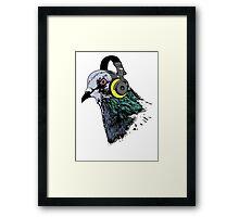 Techno Pigeon v2 Framed Print