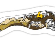 GREYHOUND RACE RUN Sticker