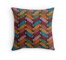 Seamless pattern with stylize sweater fabric in colors. Throw Pillow