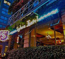 Sylvia Hotel at night by Barbara Greenstein