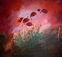 Poppy Field I by Anne Nicholson