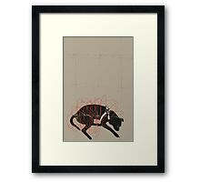 A DOG IS LEFT ON THE STREET Framed Print