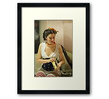 Dickens Fair Corset Model Framed Print