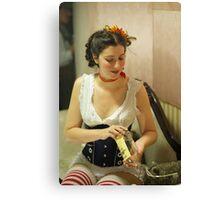 Dickens Fair Corset Model Canvas Print