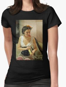 Dickens Fair Corset Model Womens Fitted T-Shirt