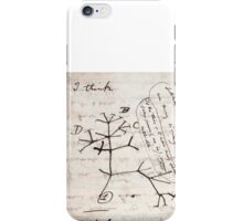 I Think - Charles Darwin 1 iPhone Case/Skin